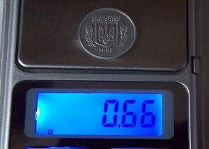 Алюминиевые 2 копейки 1992 года на весах