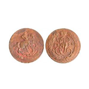 Монета 2 копейки 1767 года Екатерины 2: внешний вид и актуальная стоимость