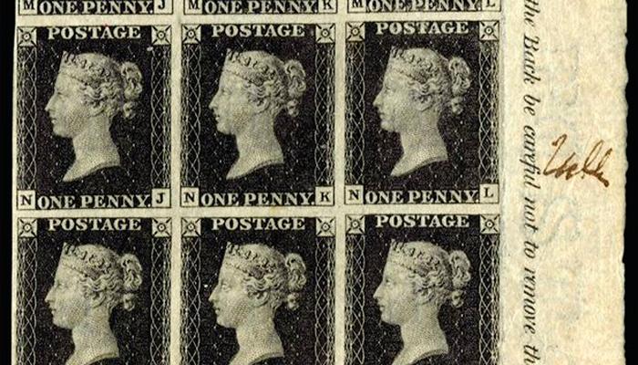 Внешний вид почтовой марки «Черный пенни»