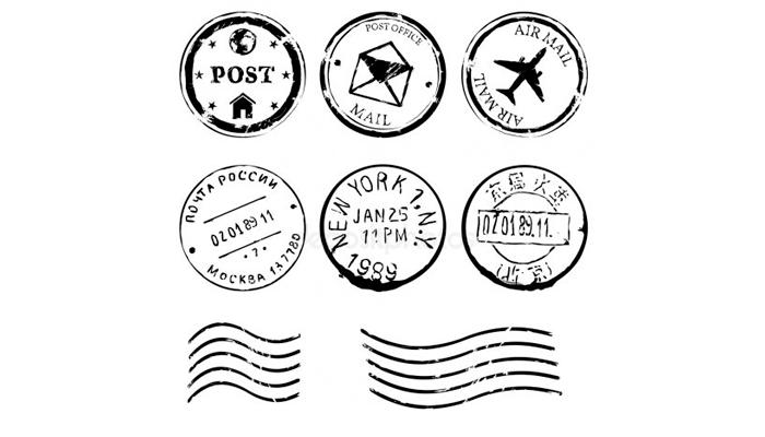 Виды штемпелей для гашения почтовой марки