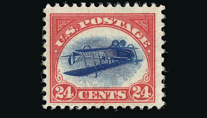 Почтовая марка «Перевернутая Дженни»