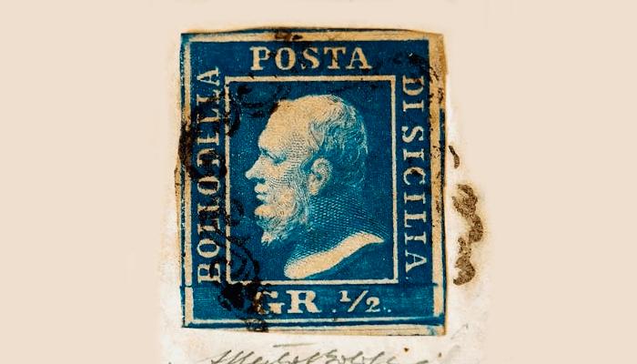 Почтовая марка Сицилийская ошибка цвета