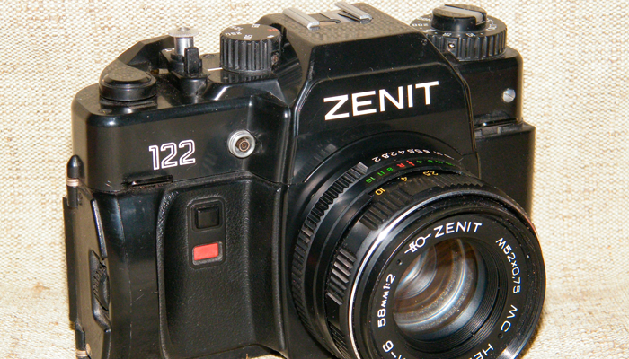 Советский фотоаппарат Зенит-122