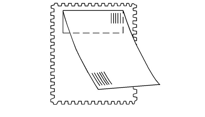 Наклейка на почтовой марке