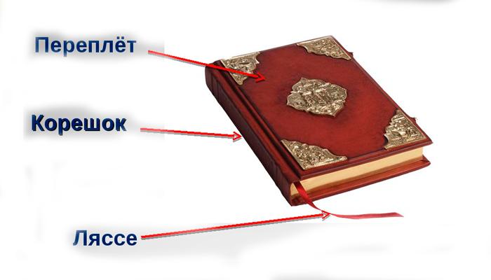 Структура антикварной книги