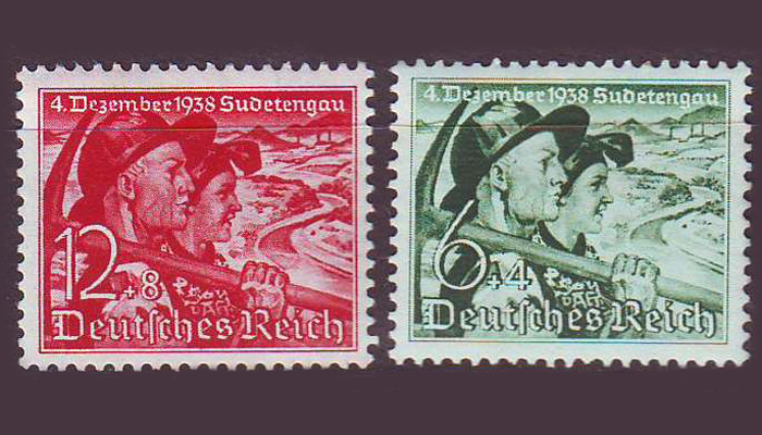 Почтовые марки Судетской области