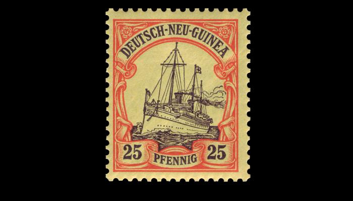 Почтовая марка «Яхта» 25 пфеннигов