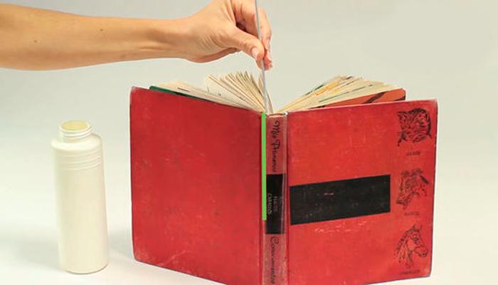 Ремонт выпадающих страниц старинной книги