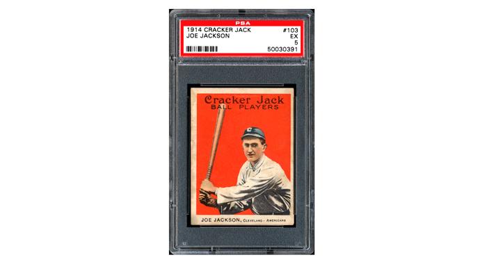 Карточка с изображением знаменитого бейсболиста Джо Джексона