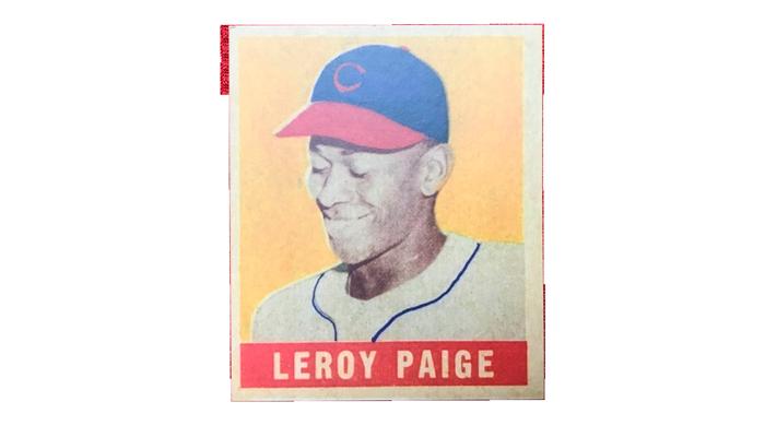 Бейсбольная карточка с изображением знаменитого питчера Сэтчела Пэйджа