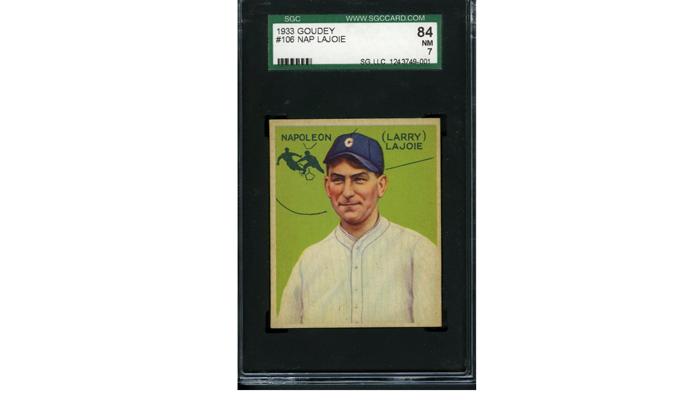 Карточка со знаменитым бейсболистом Наполеоном Лажуа