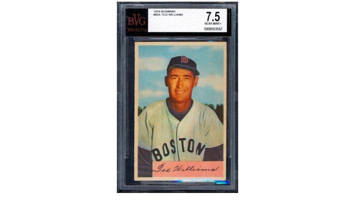 Бейсбольная карточка с отбивающем Тедом Вильямсом