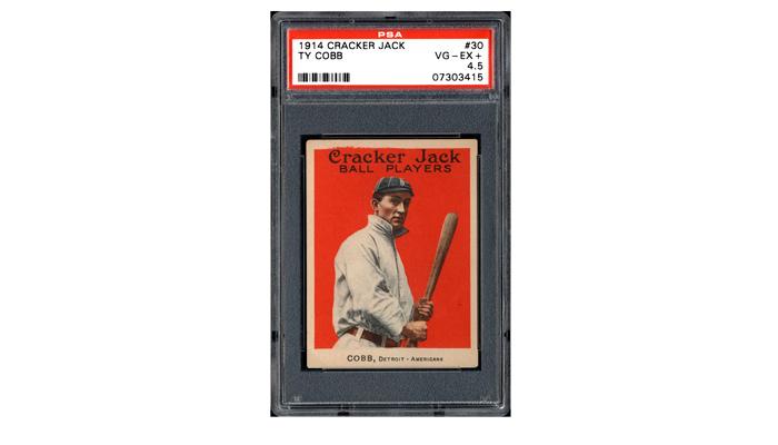 Карточка с изображением великого бейсболиста Америки Тайруса Реймонда Кобба