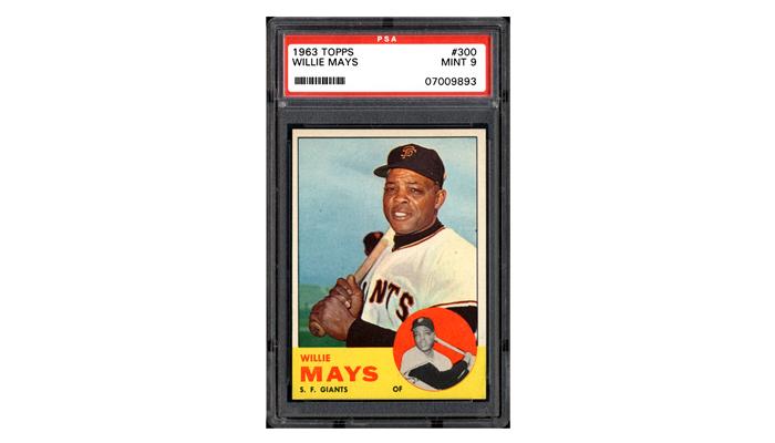 Карточка с изображением бейсболиста Уилли Мейса