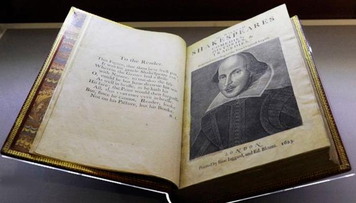 Первое фолио Уильяма Шекспира