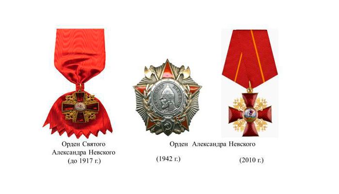 Разновидности ордена Александра Невского
