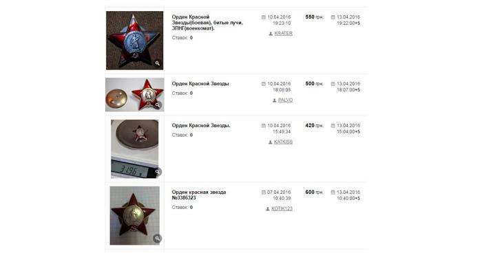 Продажа ордена Красной Звезды в интернете