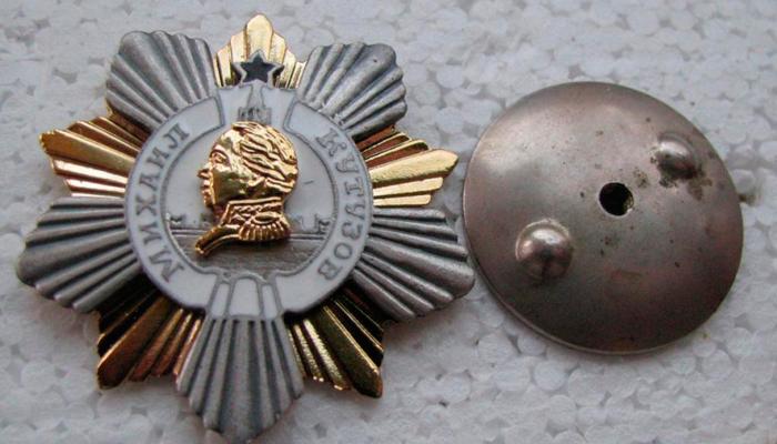 Орден Кутузова в разобранном виде