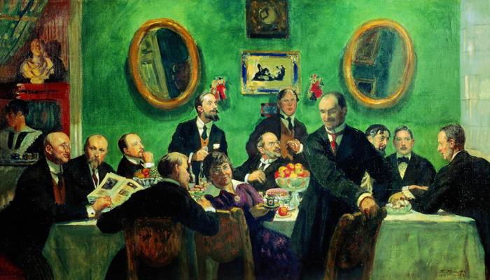 Групповой портрет художников объединения «Мир искусства»