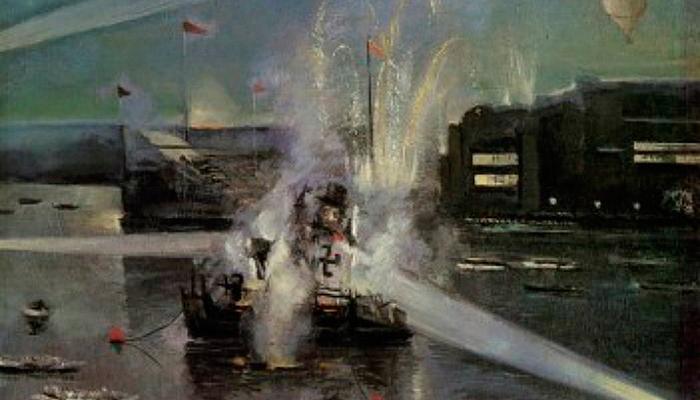 Картина Юрия Щукина «Водный праздник» относящаяся к экспрессионизму